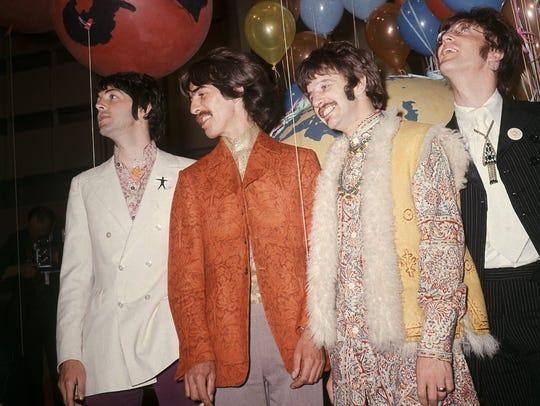 The Beatles — from left, Paul McCartney, George Harrison,