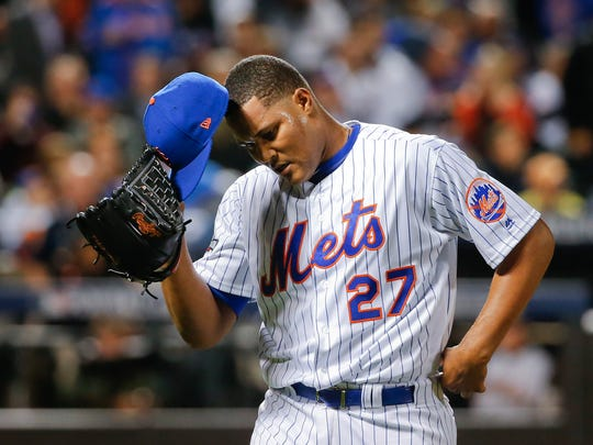 A domestic violence complaint may lead to a suspension by MLB for  closer Jeurys Familia.