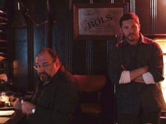 """James Gandolfini and Tom Hardy in a scene from """"The Drop."""""""
