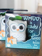 "The ""Whoo is Ready for Bed?"" book package, which includes a plush owl and a dry-erase crayon, sells for $26.99 online at whooisreadyforbed.com and in specialty stores in eight states, including five locations in the Green Bay area."
