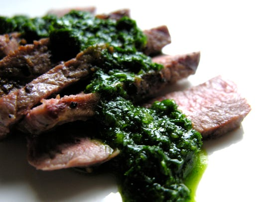 East Fork Farms lamb chops sing with fresh parsley