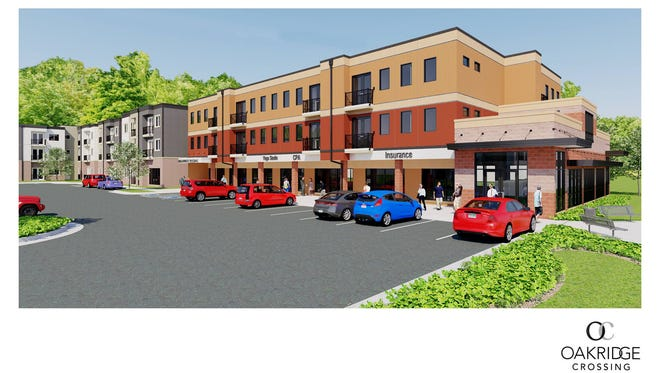 This rendering shows the proposed look of Oakridge Crossing, 4706 McMurry Road, in south Fort Collins.