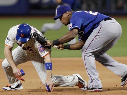 Rangers Mets Wright