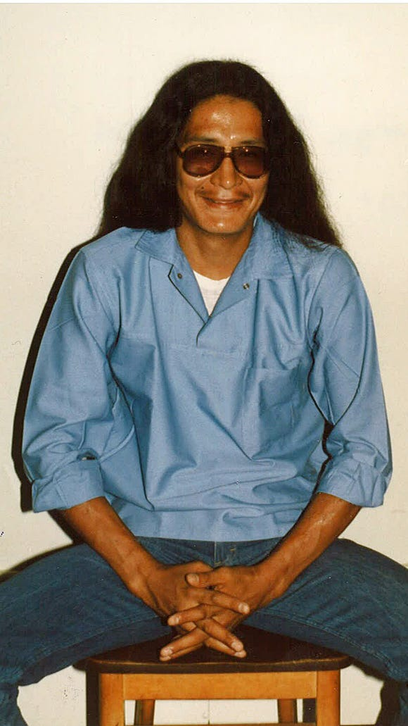 George Blue Bird, pictured in 1985, is serving a life