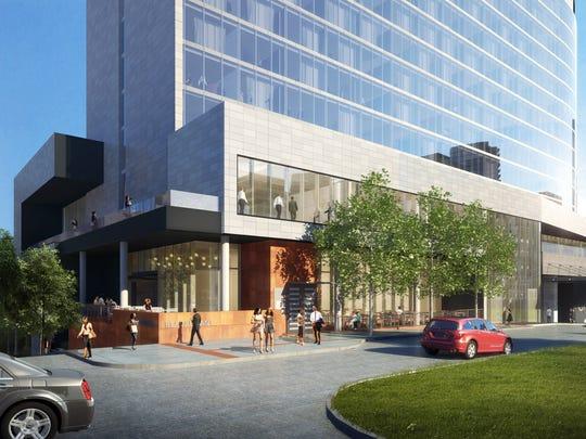 W Hotel Nashville rendering