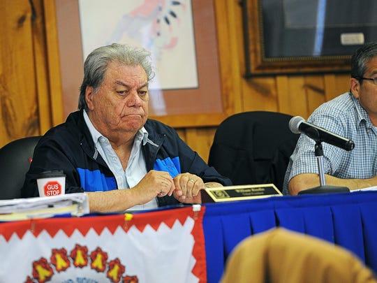 William Kindle, Rosebud Sioux Tribal President, looks