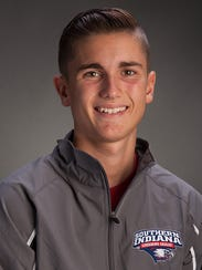 University of Southern Indiana sophomore distance runner Austin Nolan, a Reitz High graduate.