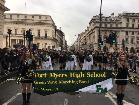 FMHS band marches in London