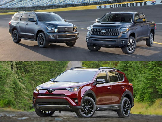 2018 Toyota Sequoia, 2018 Toyota Tundra and 2018 Toyota RAV4 Adventure ...