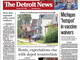 The front page of The Detroit News on Monday, July