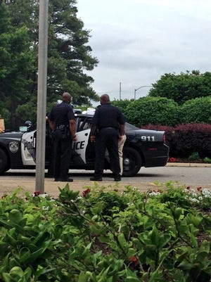 Jackson police took a man into custody after he scared some employees on the campus of Union University this afternoon.