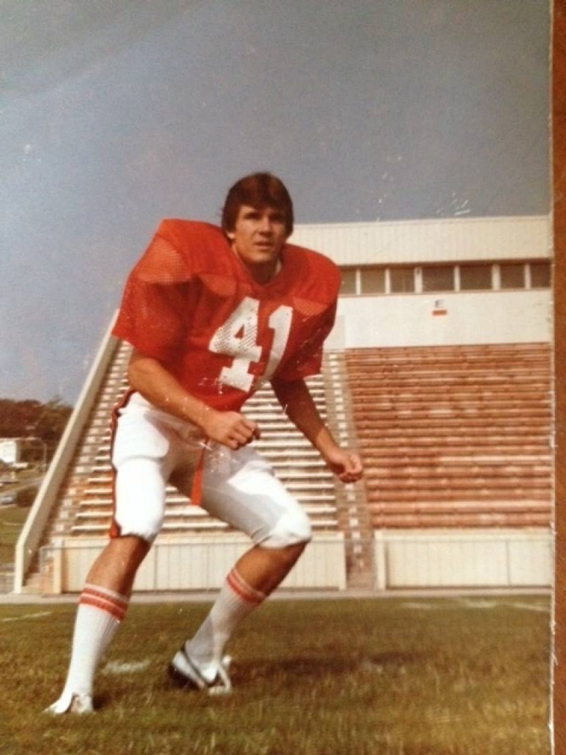 Todd Graham as an East Central player defensive back in the early 1980s.