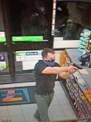 This surveillance photo shows a suspect from a Reno robbery on Monday, Sept. 26, 2016 at the 7/11 store on Steamboat Parkway.