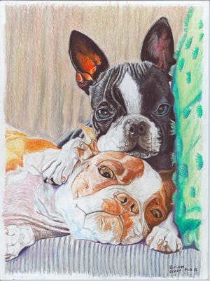 This drawing is by a prison inmate involved in a prison ministry called Vision of Hope. The Westminster Festival of Fine Art, Oct. 6-9, will be exhibiting artists involved with this cause.