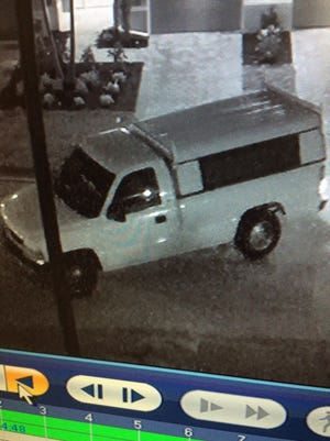 Police believe this truck was involved in a burglary in the Linsford community  Tuesday night.