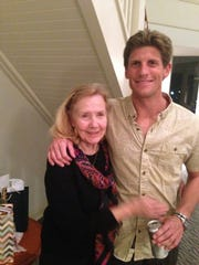 Charlie Keating with his grandmother Phyllis Holmes.