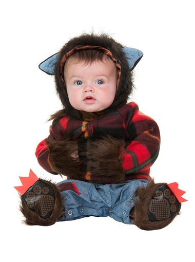 Baby Wolfman infant costume, $26.99 online only at