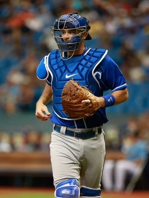 Backup catcher Drew Butera was acquired by the Royals in a trade in May.