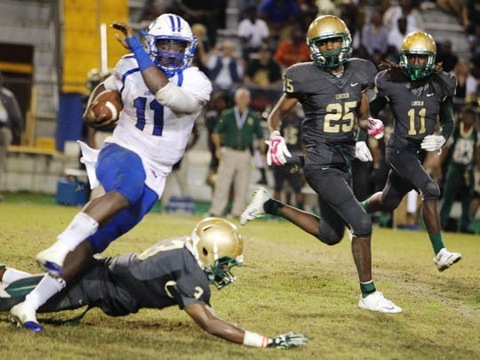 Godby quarterback Darius Bradwell had 171 yards rushing and a touchdown, but the Cougars fell 42-34 to Lincoln on Friday night.