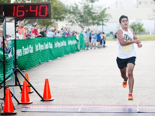 Fort Myers' Ram Khalmuratov won the 2016 male title with a time of 16:39.