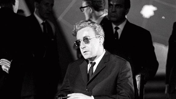 Peter Sellers during production of 'Dr. Strangelove