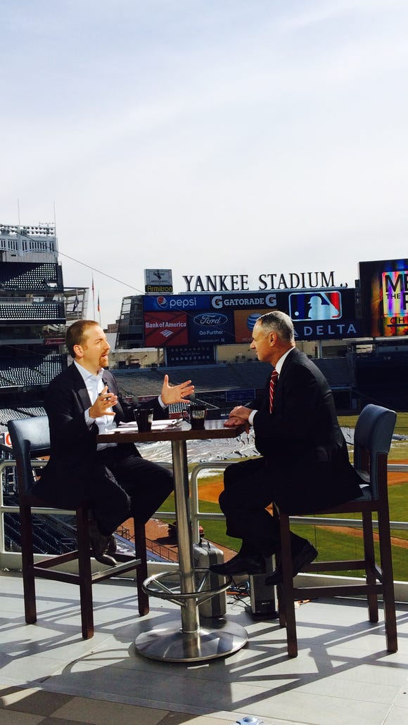 """MLB commissioner Rob Manfred's interview on NBC's """"Meet"""