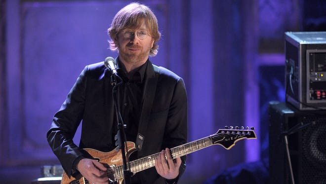 Musician Trey Anastasio of Phish performs onstage at the 25th Annual Rock And Roll Hall of Fame Induction Ceremony
