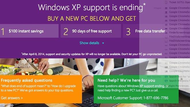 Windows XP ad
