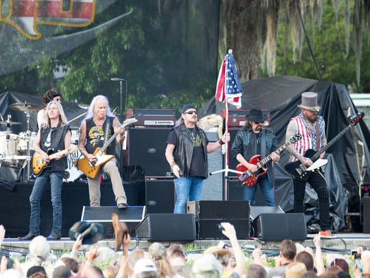 Lynyrd Skynyrd rocks out at the Wanne Music Festival in Live Oak during the spring of 2014. The band is in Tallahassee on Friday night at Cascades Park.