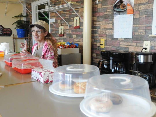 Debbie Blank talks about her store, the Clay Station, on Wednesday on Cedar Hill Road in Lancaster.