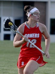 Livy Rosenzweig, pictured here playing for Somers in 2017, was named an IWLCA First Team All-American on Wednesday.