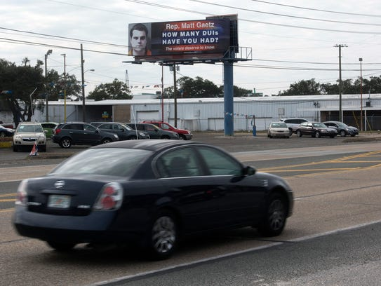 Mad Dog PAC paid for a billboard at West Navy Boulevard