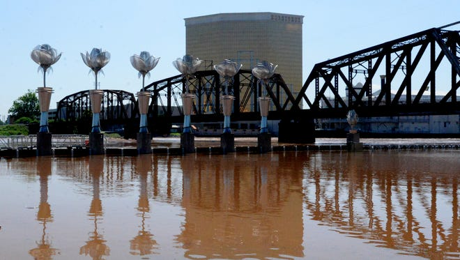 RiverView Park in downtown Shreveport  is closed because of the high waters of the Red River.