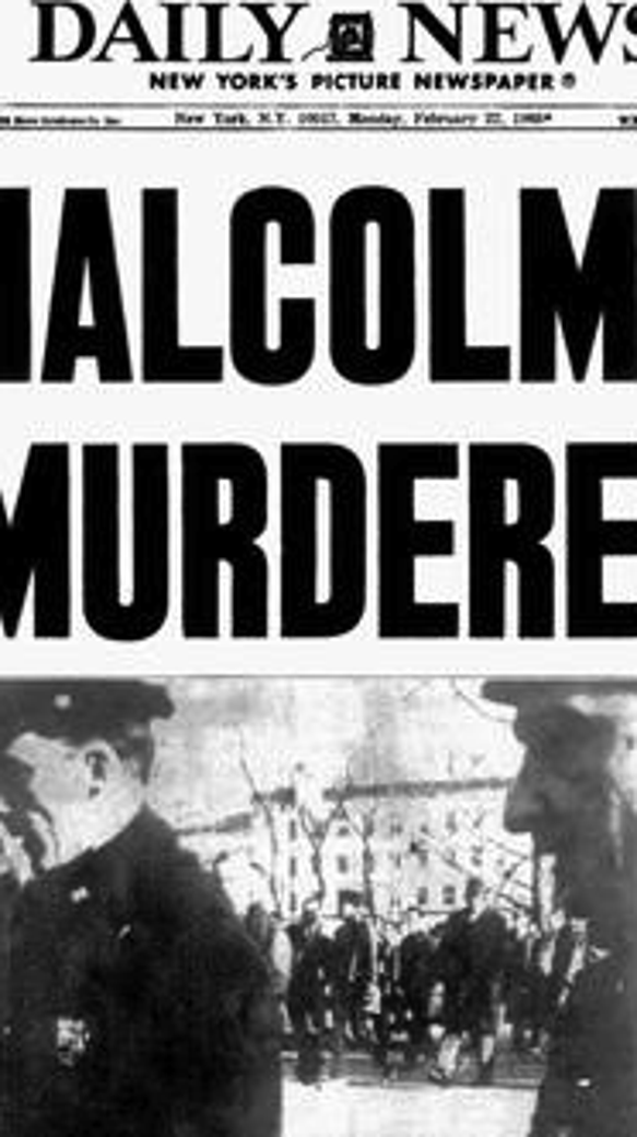 New York Daily News headline when Malcolm X was assassinated