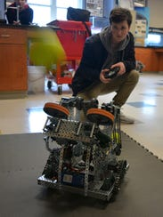 Cape Henlopen High School senior Griffin MacCoy pilots