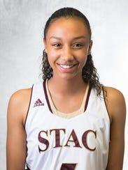 Elmira High graduate Zaria Thomas completed her freshman season at St. Thomas Aquinas College