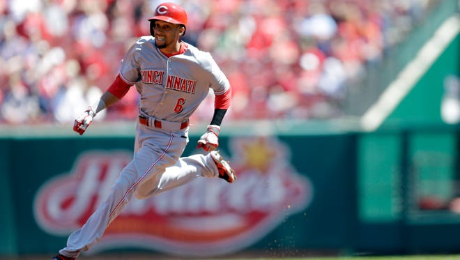 Billy Hamilton's speed has the ability to excite a traditionally stoic Reds' dugout.