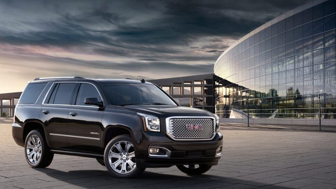The 2015 GMC Yukon Denali, one of the big SUVs that just received gas mileage ratings