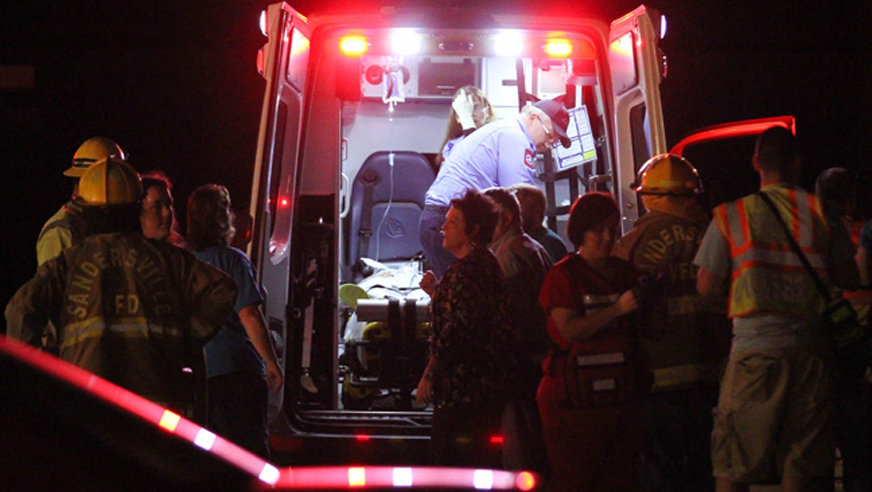 Floor collapses at Miss. church; dozens