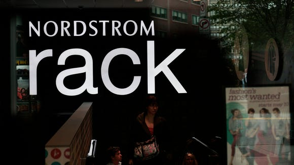 Customers exit a Nordstrom Rack store in New York City.