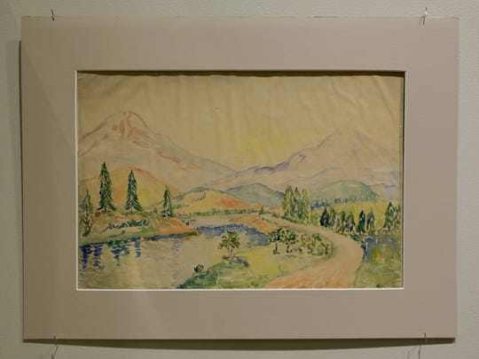 """Lindstrom,"" a career-spanning retrospective of Gaell Lindstrom's work at the Sears Art Museum Gallery in St. George, even includes some of the artist's childhood work, like this painting he created at age 13."