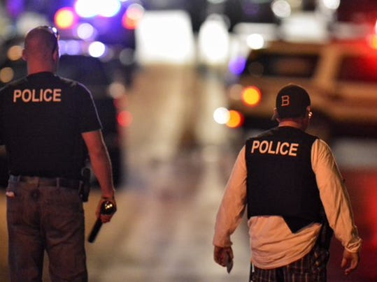 Police searched Glen Rock the evening of Wednesday, Nov. 4, 2015, after one of their officers was dragged about 50 yards by a fleeing car.