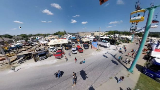 A 360-degree video view of the Iowa State Fairgrounds.