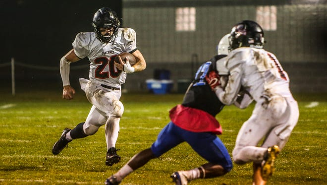 Pinckney's Levi Collins rolled up 191 yards and three touchdowns on only five carries in a 56-0 rout of Lansing Waverly.
