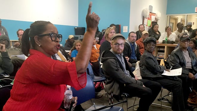 "Ernestine Hill, objecting to a community benefits agreement with FC Cincinnati at Tuesday's West End Community Council meeting. ""We did not get an equal opportunity to take part in a legitimate CBA. We have a right to be a part of it,"" Ernestine Hill said. ""We need to tear this up and start all over again."""