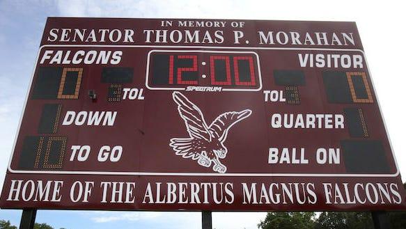 Albertus Magnus scoreboard.