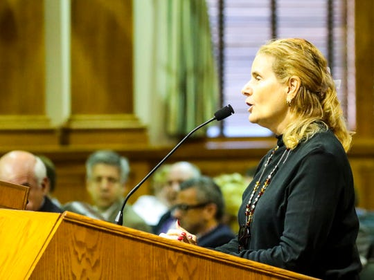 Boni Raitt spoke to the commission about keeping the portrait the way it is now. However, after seeing the other portrait of him in a suit, she said she would be okay with the change happening.  Lee County Commission takes public comments that included remarks from citizens on the issue of swapping out Robert E Lee photo in military garb in commission chamber for a portrait similar of him hanging in administration building in academic garb from his days as Washington College President. The NAACP also talked to media afterwards to inform them the commission asked them to put together a proposal for working together to make that happen.