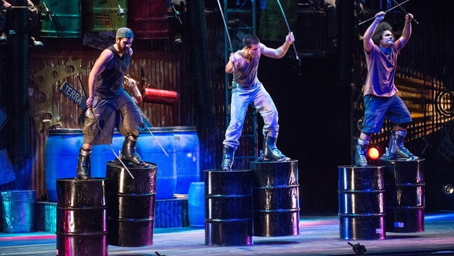 A scene from STOMP.