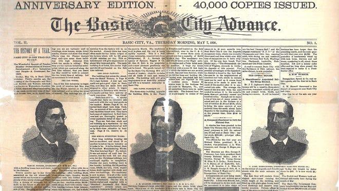 May 7, 1891 Basic City Advance.
