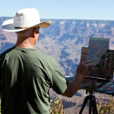 Gregory Hull is shown at the 2011 Grand Canyon Celebration of Art.